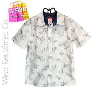 🛍3/$30🛍 Boy's Beetle Insect Button Down Shirt